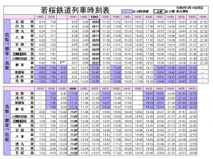 若桜鉄道時刻表